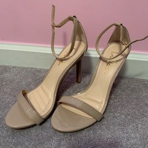 LuLus Patent Taupe Heels size 7